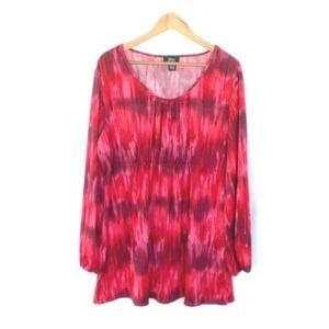 Allison Morgan Red & Pink Abstract Print Blouse
